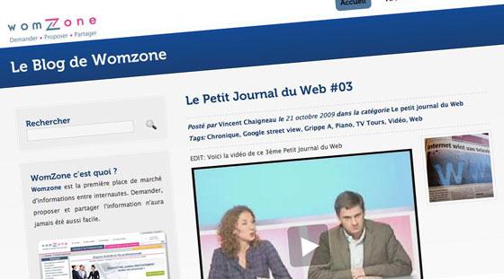 Le Petit Journal du Web par womzone
