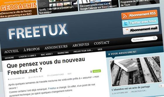 Le nouveau template de Freetux.net