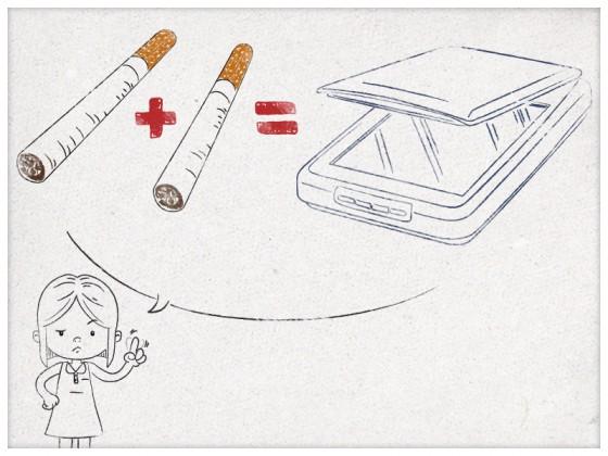 Papi, c'est pas bien de fumer tu vas finir par avoir un scanner !, Lucie, 4 ans.