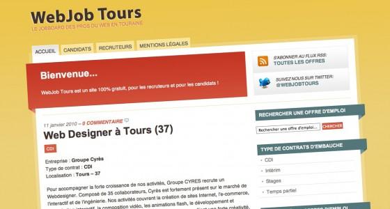 WebJob Tours, le site d'emploi dans le web en Touraine
