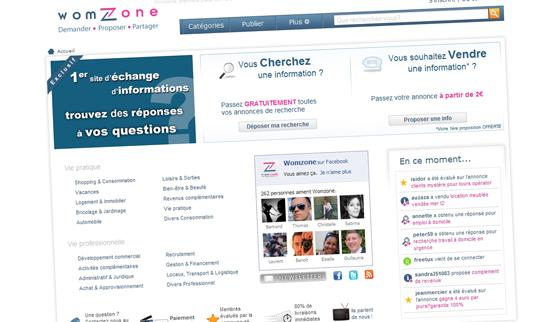 Womzone, première place de marché d'informations entre internautes