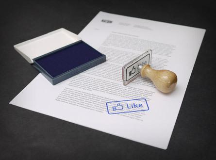 Acheter un tampon pour mettre un «Facebook Like» sur vos docs