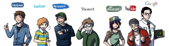 si les principaux sites du web 2 0  u00e9taient des personnages