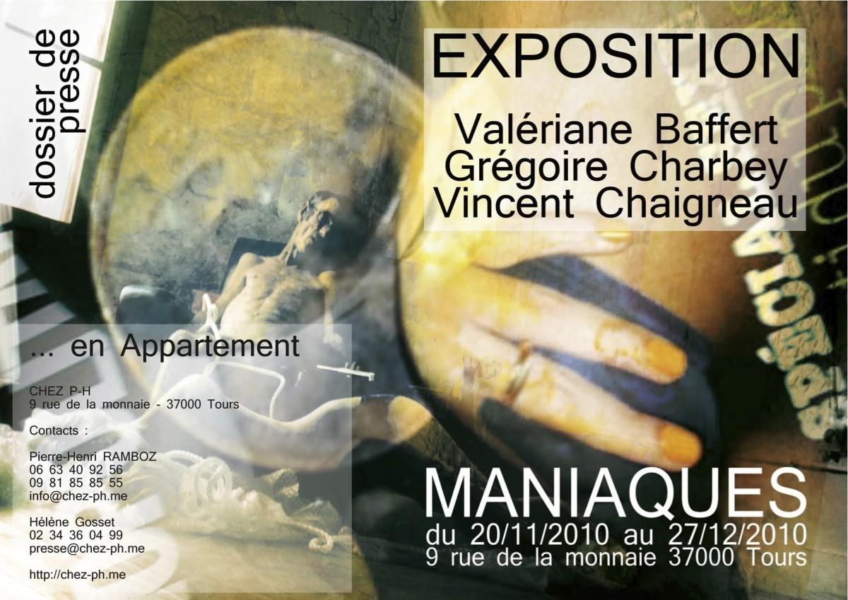 Invitation au vernissage de l'exposition MANIAQUES