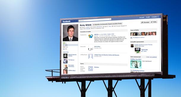 Wiktik ou l'affiche publicitaire à l'aire de facebook