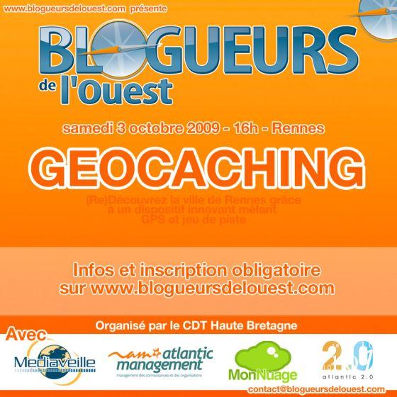 Soirée geocaching avec les blogueurs de l'ouest en bretagne