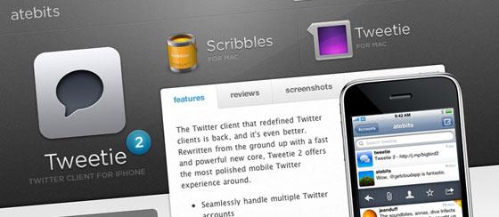 Tweetie 2.1 pour iPhone d'atebits disponible sur l'AppStore