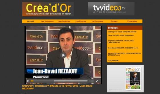Womzone participe au concours de création d'entreprise en région Centre Créa'd'or