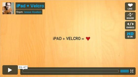 ipad + velcro = love