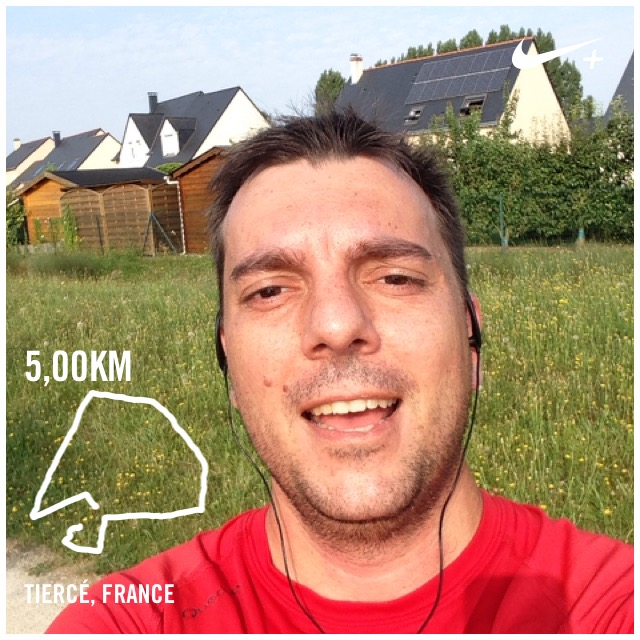 Selfie de la fin de mon run medio pied 4
